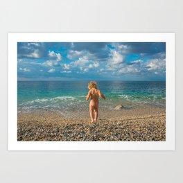 Seachild Art Print