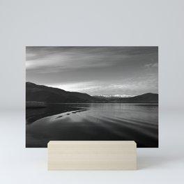 Lake Monochrome Silence I Mini Art Print
