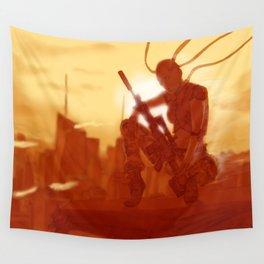 Manhattan Bot Sniper Wall Tapestry