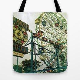 Coney Island Ferris Wheel Tote Bag