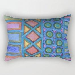 Filled blue Grid  Rectangular Pillow