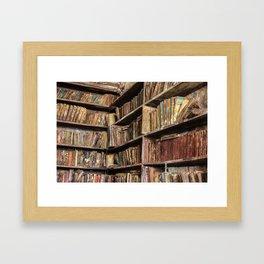 Moldy Books Framed Art Print