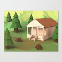 cabin Canvas Prints featuring Cabin by CharismArt