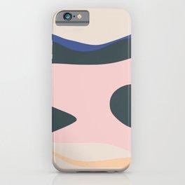 Amoeba abstract minimalist iPhone Case