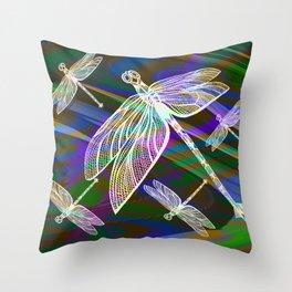 Dragonflies 1 Throw Pillow