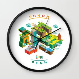 Phnom  Penh Wall Clock