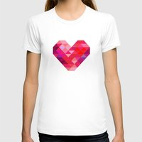 prism T-shirts featuring Prism Heart by Badamg