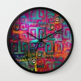 Wari colorful Wall Clock