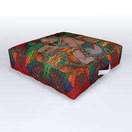 Yucatan Psychedelic Mexicano Visiones Outdoor Floor Cushion
