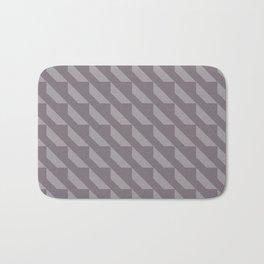 Simple Geometric Pattern 4 in Aubergine Bath Mat