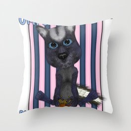 Funny Skunk With His Acorns Throw Pillow