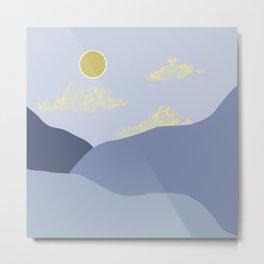A Blue Landscape  Metal Print