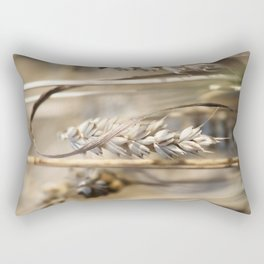 beige brown wheat Rectangular Pillow
