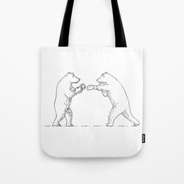 Two Grizzly Bear Boxers Boxing Drawing Tote Bag