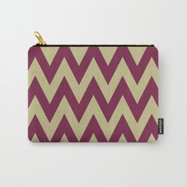 Team Spirit Chevron Maroon and Gold Carry-All Pouch