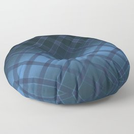 Beautiful oblique cell on a satin blue background . Floor Pillow