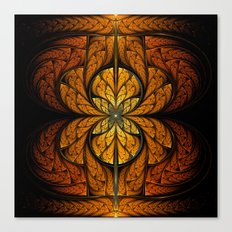 Glowing Feathers Fractal Art Canvas Print