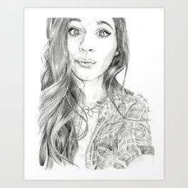 Camila Cabello Plaid Art Print