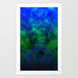 Fractal Ocean I Art Print