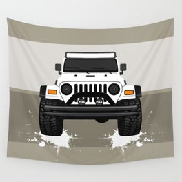 [JEEP] White TJ Wall Tapestry