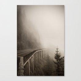 Misty Bridge Canvas Print