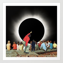 Eclipse Gazers Art Print