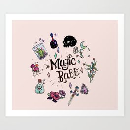 Magic Babe Art Print