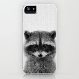 raccoon headshot iPhone Case