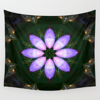 drum Wall Tapestries featuring The Rose Petal Drum.... by Cherie DeBevoise