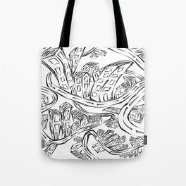 Entangled City Tote Bag