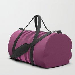 Burgundy , striped Duffle Bag
