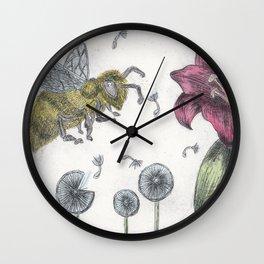 Bee Happy 2 Wall Clock