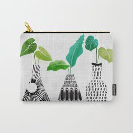 Black and White Tribal Vases Carry-All Pouch