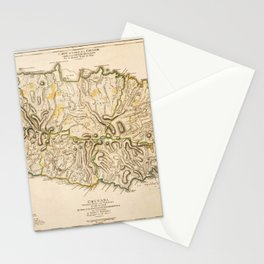 Map Of Grenada 1771 Stationery Cards