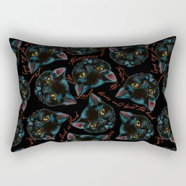 Black Cat Spell Rectangular Pillow