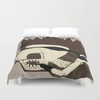racoon Duvet Covers featuring Raino Racoon by René Barth