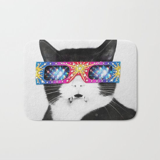 Laser Cat Bath Mat
