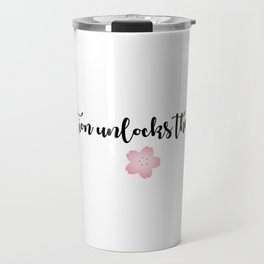 INSPIRATION UNLOCKS THE FUTURE Travel Mug