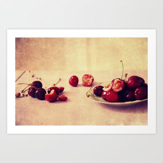 like cherries? Art Print