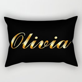 Name of a girl Olivia in golden letters Rectangular Pillow