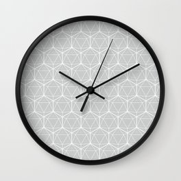 Icosahedron Soft Grey Wall Clock