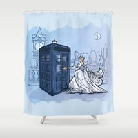 hallion Shower Curtains featuring Come Away with Me by Karen Hallion Illustrations