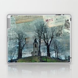 A Village Church on the Top of the Hill Laptop & iPad Skin