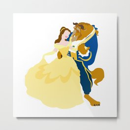 Belle and the beast Metal Print