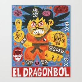 Goku Tu Madre Canvas Print