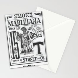 SMOKE MARIJUANA Stationery Cards