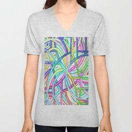 Candy Colored Clown Coils Unisex V-Neck