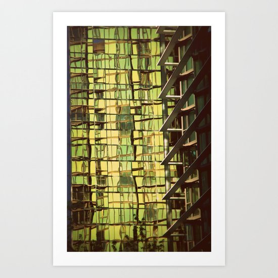 Abstract (building in Vancouver) Art Print