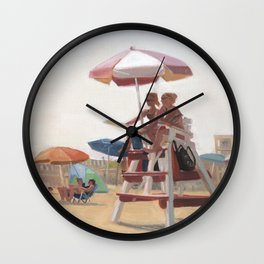 Cape May Lifeguards Wall Clock