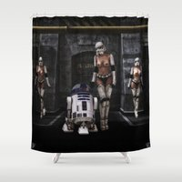 sci fi Shower Curtains featuring Sexy Sci-Fi 2 by gypsykissphotography